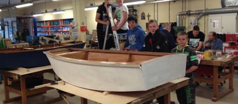 foto's zeilboot bouwen